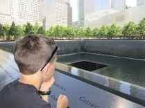 A sobering place to be; the 9/11 Memorial.