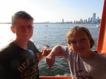 Enjoying the ferry ride back to Staten Island.