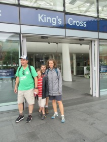 The real King's Cross Station in London, England.