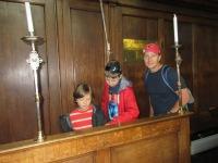 The boys in the Cambridge University Chapel.