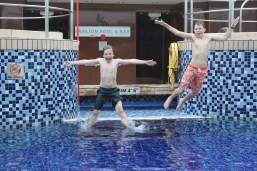 Both boys loved swimming and really enjoyed the indoor pool on the top deck.