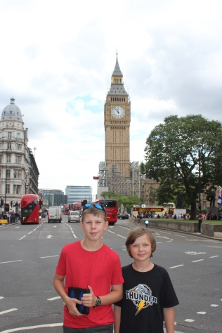 We heard the Big Ben chime at noon :)