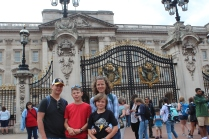 In front of Buckingham Palace.