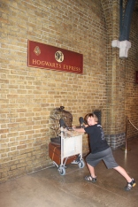 On his way to Hogwarts.