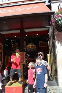 At Hamleys, a GREAT Toy Store recommended to us by our friends the McNicols.