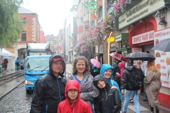 Temple Bar area in Dublin.