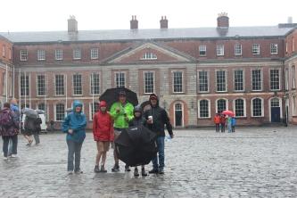 In the courtyard of Dublin Castle.
