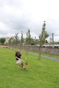 Josiah playing some lacrosse in Dublin.