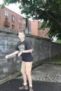 Playing ball in Dublin.
