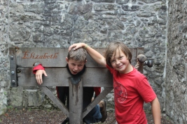 We learned all about pillories and being publicly humiliated as punishment. Unfortunately, no one had any tomatoes to throw.