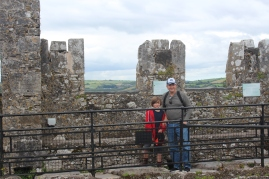 Proof that Jo and Papa were at the top of the castle.