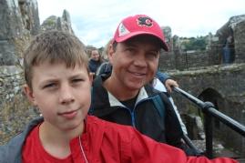 Isaac and Nathan at the top of Blarney.
