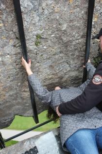 Riann kissing the Blarney Stone