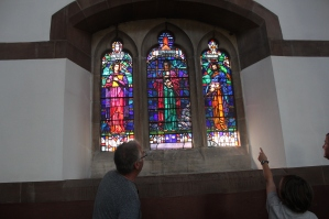 The Lewis family stained glass window in St. Marks.