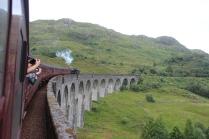Going over the glennfinnan Viaduct.