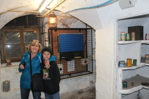 In Alf Wight (aka James Herriott)'s basement (made into a bomb shelter).