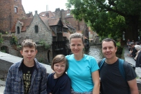 In Bruges...I think the bridge we are on is from 1500 or somewhere along the lines ;)