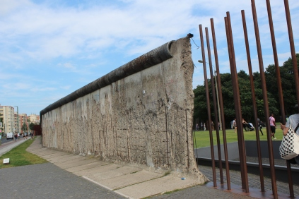 The Berlin Wall from the West side.