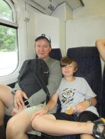 Lots of train rides with Grandma and Papa.