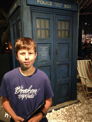 A surprise visit to Dr Who Experience for Isaac :)