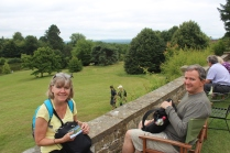 Enjoying the view at Chartwell.