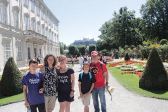 In Mirabell gardens, Salzburg.