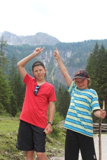 """Our destination: 4km to the bottom, 4km up a 1500 metre """"wall"""" to Tappenkarsee. (16km roundtrip)."""