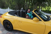 Jo's first ride in a Porsche. I don't think it will be his last.