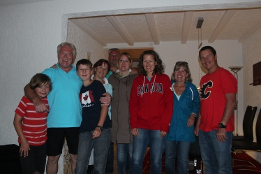"""Our German """"family,"""" the Hollbachs/Gerbers."""