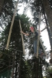 Isaac on the high ropes course in Feldberg.