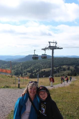 Grandma and Jo took the gondola up Feldberg mountain in Germany.