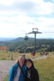 Josiah and Grandma; they took the gondola to the top, and Papa and Riann hiked it up.