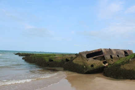 Some leftovers from the artificial harbour at Arromanches.