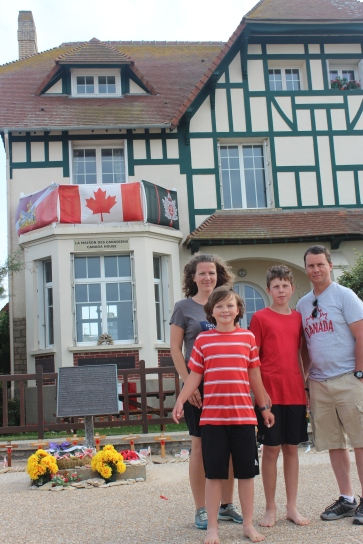 Canada House at Juno Beach; the first house to be liberated by the Canadian Soldiers who landed here.