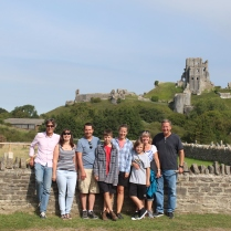 At Corfe Castle with Tina and Ian.
