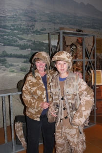 At the Tank Museum with Tracey.