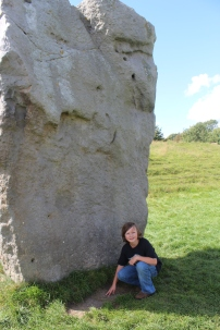 Up close and personal with the Neolithic stones in Avebury.