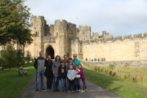 The whole crew at Alnwick Castle.