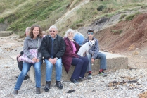 Second visit with Roy and Joyce (and Toby) at Lulworth Cove.