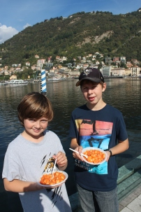 Thanksgiving dinner on Lake Como.