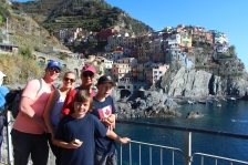 Hiking along the Cinque Terre path.