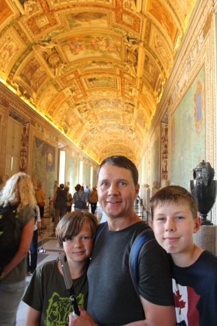 The Vatican museum...long beautiful walk through it to the Sistine Chapel.