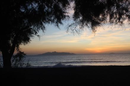 Sunrise from Kamari Beach.