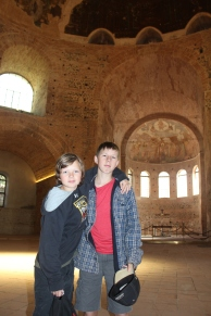 Inside the Rotunda of Galerius in Thessaloniki, built around 305 AD.