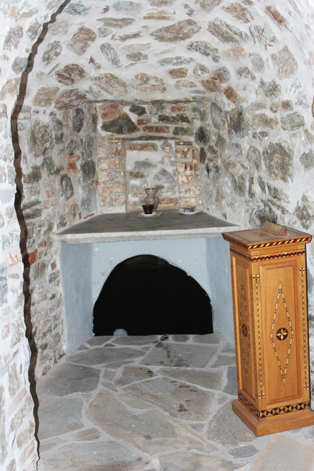 Opening to the spring that the Apostle Paul stopped at while he was in Thessaloniki.