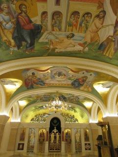 In the Temple of Saint Sava, Belgrade.