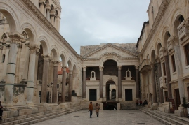 Diocletian's Palace in Split. (Emperor of Rome's retirement palace).