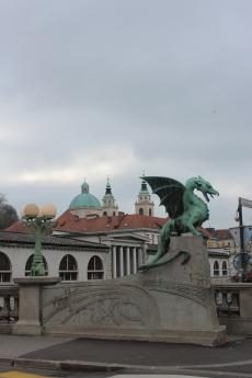 The symbol of Ljubljana....dragon and it's bridge.