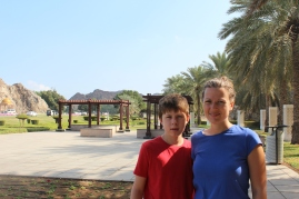 Walking in Oman.