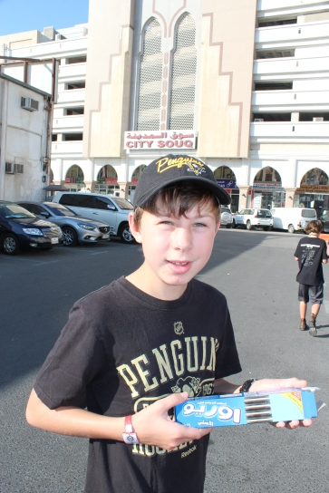 Doha...Isaac found some Oreos!